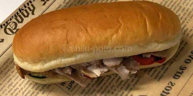 骨付き鶏肉のコンフィサンドイッチ