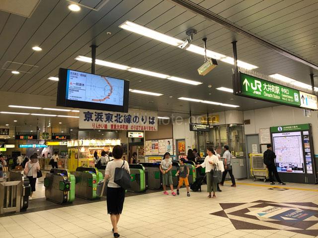 JR大井町駅中央改札口