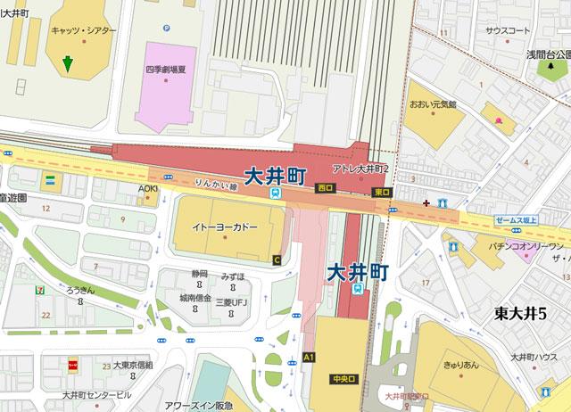キャッツ・シアターと四季劇場【夏】の地図