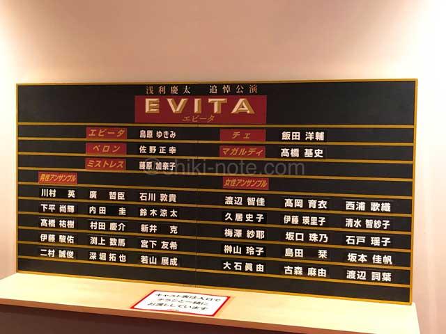 エビータ川崎公演キャスト
